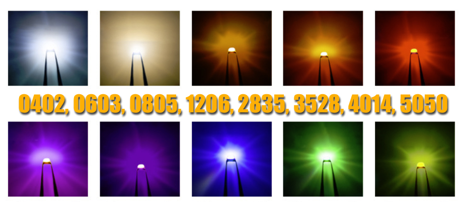 25 HuiYuan LEDs Leuchtdiode 1206Y1C-KHA-C LED SMD 1206 gelb 130mcd 857157