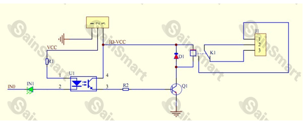 4 kanal relais modul 5v optokoppler relaiskarte. Black Bedroom Furniture Sets. Home Design Ideas